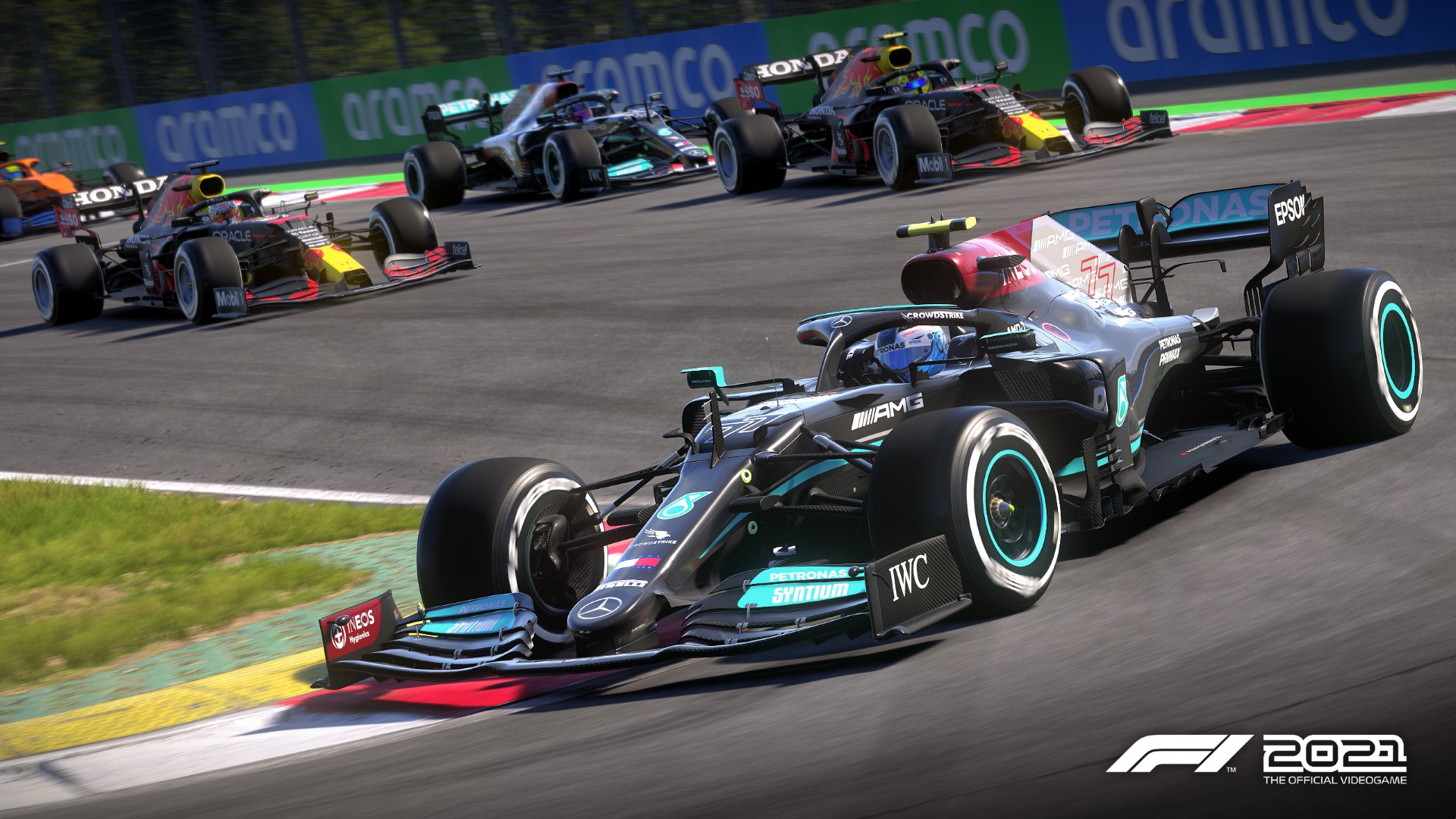 A screenshot from the F1 2021 game