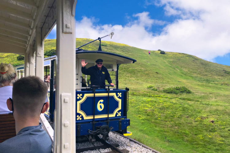 An image of the Great Orme in Llandudno, Wales. Captured from the Great Orme tramway.